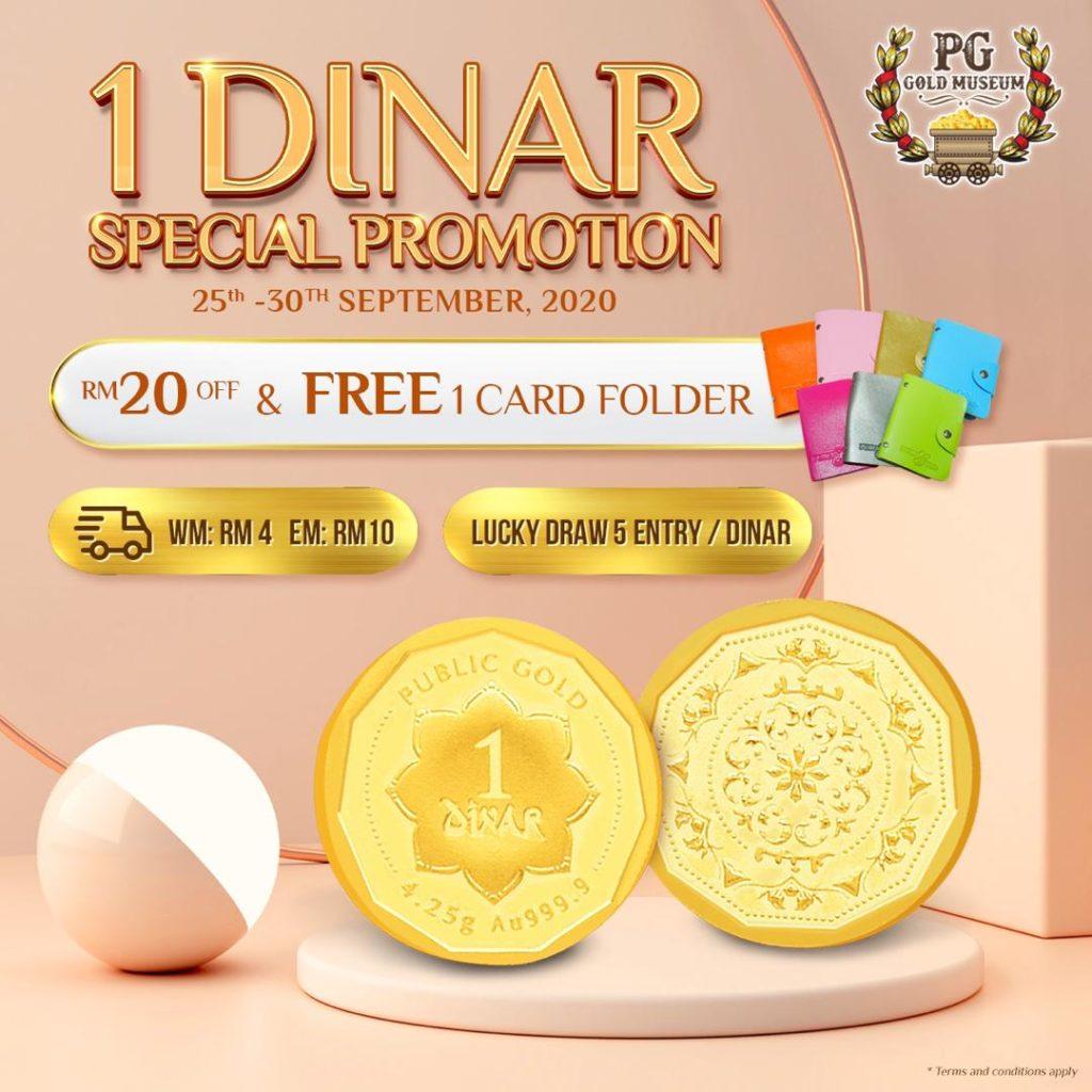 1 Dinar 999 Promosi PG Museum 25-30 September 2020