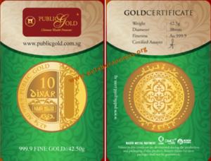 10 Dinar Emas 24K LBMA (42.5g, AU 999.9)