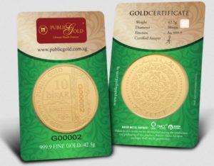 10 Dinar LBMA 24K Public Gold