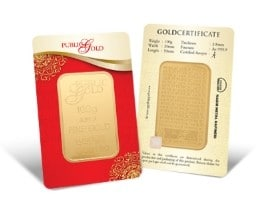 100g LBMA Goldbar 999.9 Public Gold