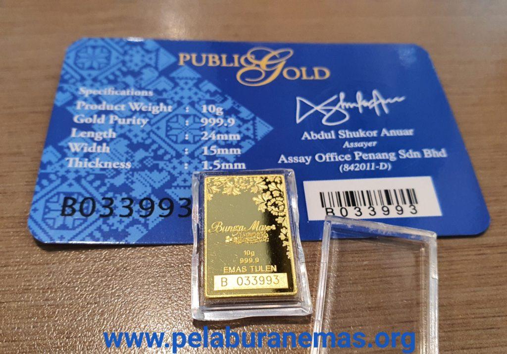 10g Goldbar 24K BungaMas Public Gold