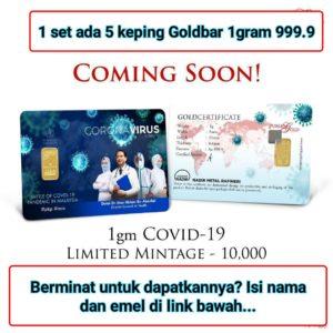 Tempah Goldbar 24k Edisi COVID-19