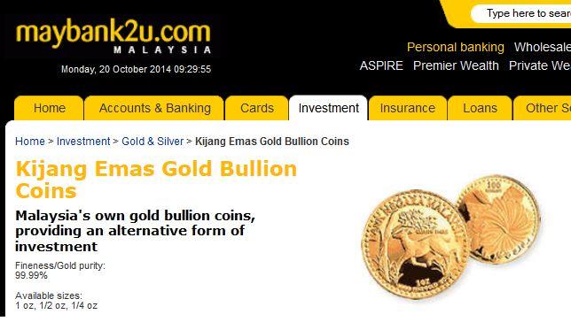Pelaburan Emas Kijang Emas Gold Bullion Maybank2u