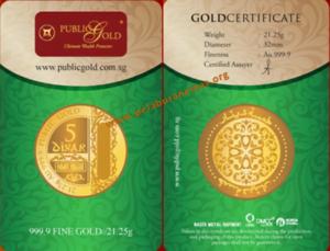 5 Dinar Emas 24K LBMA (21.25g, AU 999.9)