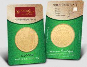 5 Dinar LBMA 24K Public Gold