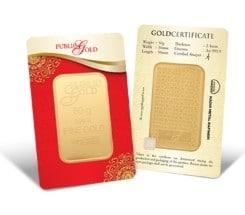 50g LBMA Goldbar 999.9 Public Gold