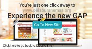 Akaun simpanan emas GAP ada pilihan New Site dan Classic Site