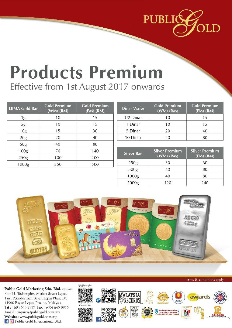 Caj Premium Public Gold