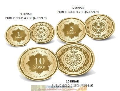Dinar tempatan Public Gold