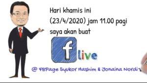 FBLive Mentor Emas En. Syukor Hashim Jam 11 pagi Khamis 23-4-2020