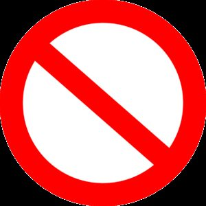 forbidden, interdiction, prohibition