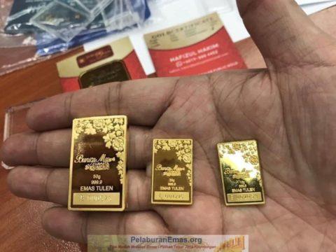 Goldbar 24k Bungamas Public Gold 10g, 20g dan 50g yang mesra Ar-Rahnu