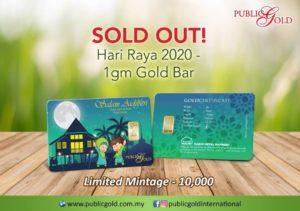 Goldbar Raya 1441H Edisi 1 Public Gold Sold Out