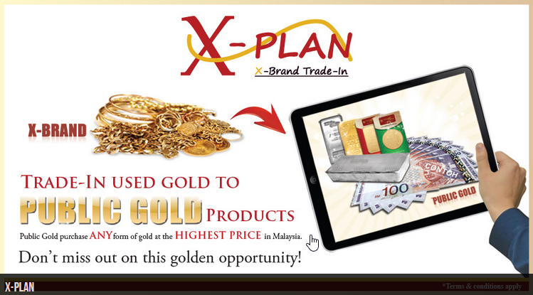 Jual emas untuk duit tunai