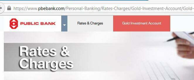 Pelaburan Emas Public Bank website