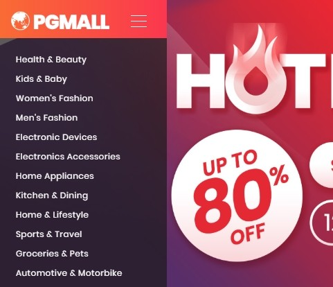 Platform online shopping PGMall.my