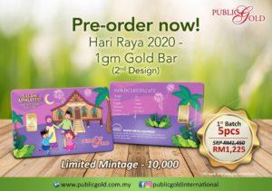 Pre-order Edisi 2 Goldbar Raya 1441H Public Gold.