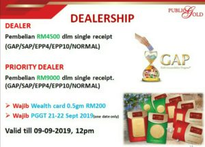 Promosi Dealer Public Gold 5-9 September 2019.