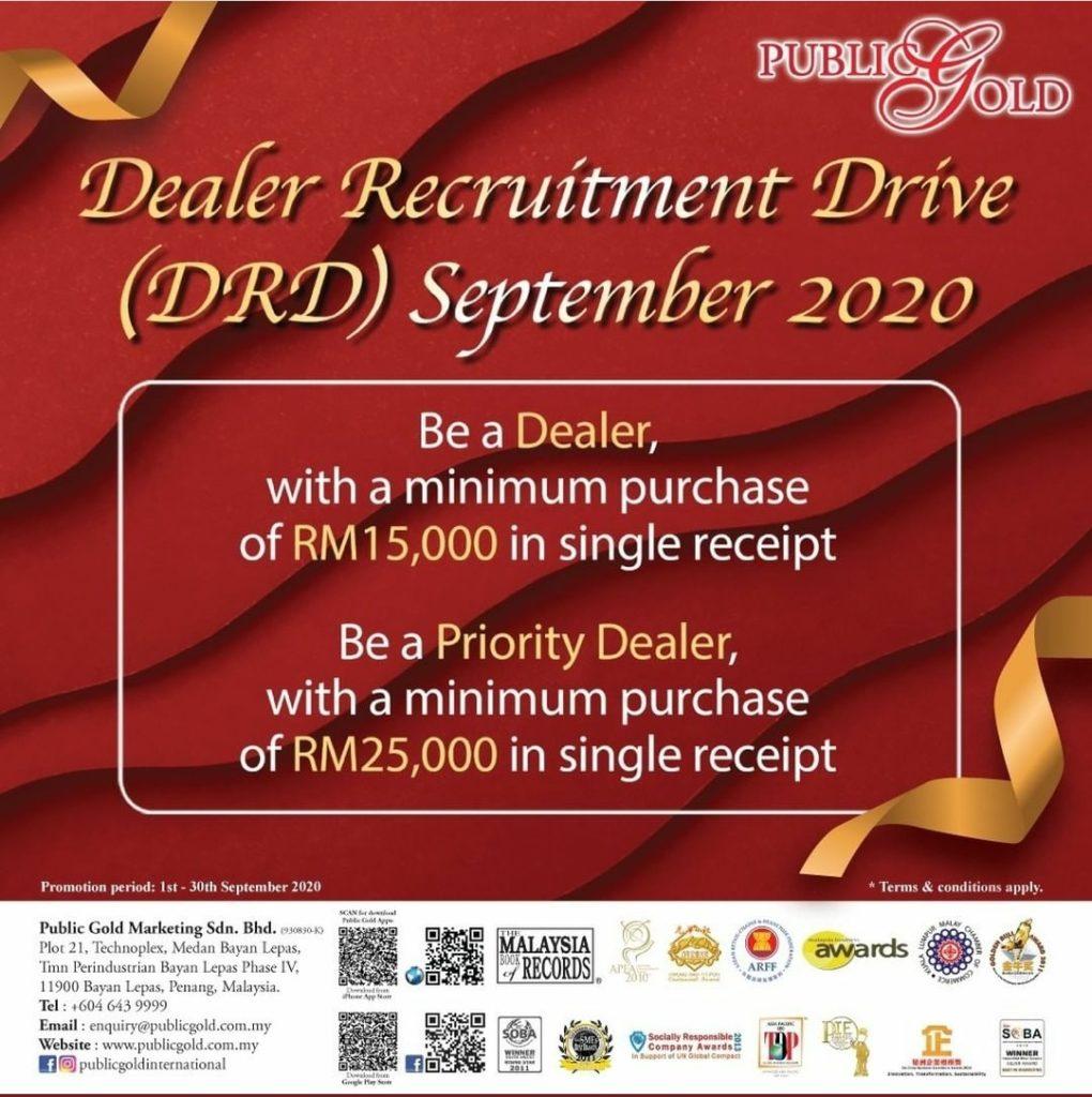 Promosi Dealer Public Gold Bulan September 2020.