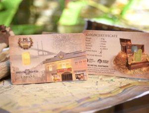 Gold bar 0.5g Public Gold dengan corak Gold Museum