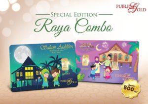 Goldbar Raya Combo 1g Goldbar x 2 keping Special Edition Public Gold Tahun 2020.