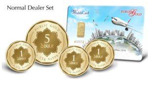 Set Normal Dealer Public Gold - 8 Dinar (999.9) dengan Wealth Card