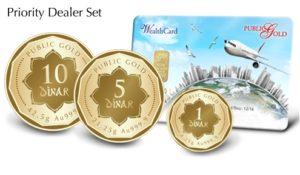 Set Priority Dealer Public Gold - 16 Dinar (999.9) dengan Wealth Card